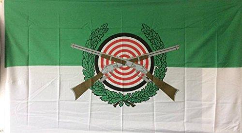 FRIP - Schützenfest mit Wappen Grün-Weiß 1,50 x 0,90m Flagge Fahnen mit 2 Ösen
