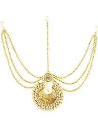Bling N Beads Pearl Matha Patti Ethnic Maang Tikka for Women & Girls