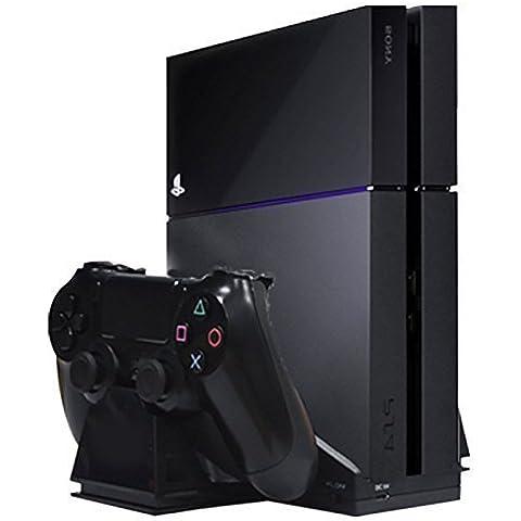 MP power @ Dual Regulador del cargador estación de carga con ventilador enfriador para Sony Playstation 4 PS4 Mando Controlador