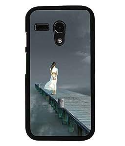 PRINTVISA Beauty dam Premium Metallic Insert Back Case Cover for Motorola Moto G - D5940