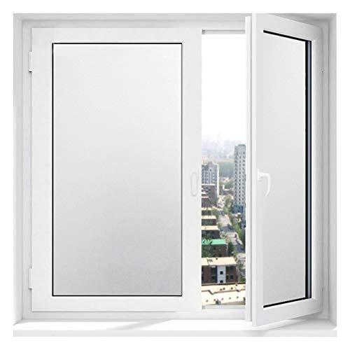 Be&xn Selbstklebend Fensterfolien Für Glas, Statisch Dekorative Sichtschutzfolie Blickdicht Tür Folie Matt Für Badezimmer Office Tagungsraum Wohnzimmer-Weiß W60xL500cm(24x197inch) - Jalousie Vinyl Weiss