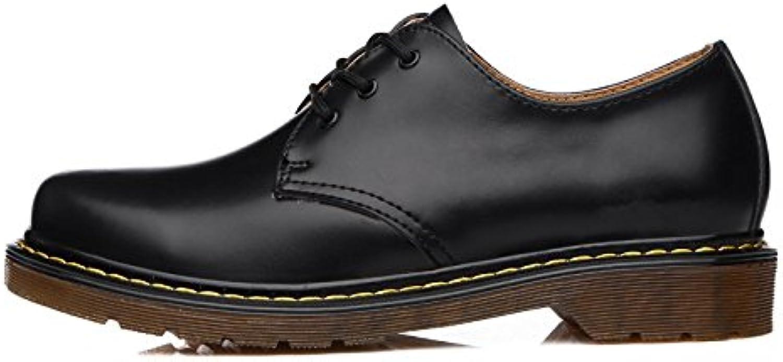 ZPFDY Botas Martin Boots De Hombre De Moda Casual Cordones De Cuero De Gran Tamaño