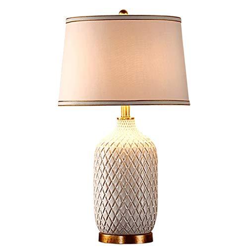 Milchweiße Keramik Tischlampe, Ananas Textur Wohnzimmerlampe Schlafzimmer Nachttischlampe, Höhe 68cm Lampen und Beleuchtung