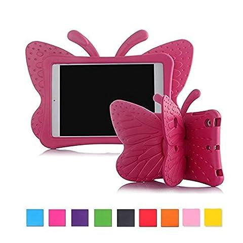 Apple iPad Mini Mini 2Mini 3Kids Étui Housse, t-trees papillon léger souple Poignée anti-chocs en mousse EVA Coque pour iPad mini Mini 2Mini 3tablettes