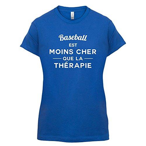 Baseball est moins cher que la thérapie - Femme T-Shirt - 14 couleur Bleu Royal