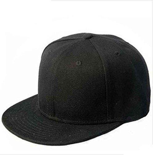 Cappello,WINWINTOM Cappello Snapback Plain Nero Hip-Hop Bboy Regolabile Baseball Cap