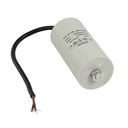 Kondensator Betriebskondensator Motorkondensator Anlaufkondensator Arbeitskondensator Steckeranschluss mit Kabel 450V + Kabel W9 von 2,0µF bis 50µF wählen Sie die benötigte Größe 2.0µF, 2.5µF, 3µF, 4µF, 6µF, 8µF, 10µF, 12µF, 16µF, 25µF, 30µF, 40µF, oder 50µF (50µF) Anlaufkondensator Betriebskondensator Motor