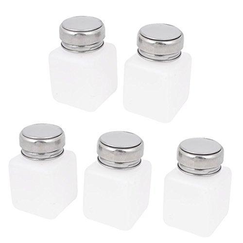 5 PCS weiße Kunststoff flüssigen Alkohol Flasche Container 120 ml w Metallkappe