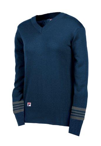 Fila Golf Women's Stockholm Knit V-Neck Sweater (Medium, Fila Navy)