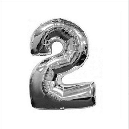 Creation Aluminium Foil Ballons & Accessories (Style: Silver 2 & Size: Random)