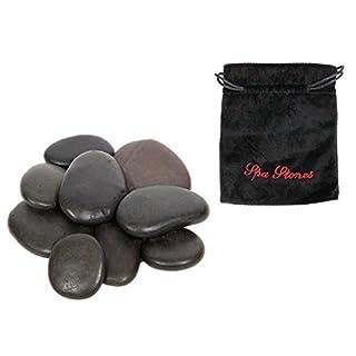Alsino Wellnesssteine Massagesteine Wellness Hot Stone Heiße Steine im Samtbeutel
