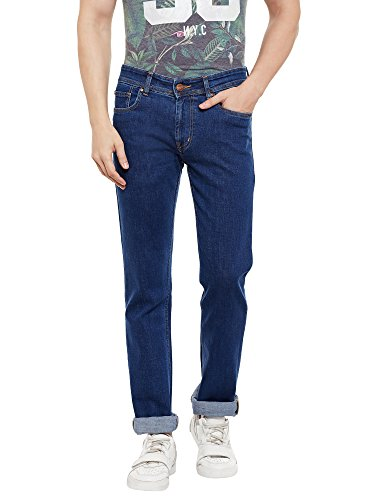 Numero Uno Mens Blue Slim Fit Low Rise Jeans (Morice Fit) (30)  available at amazon for Rs.1049