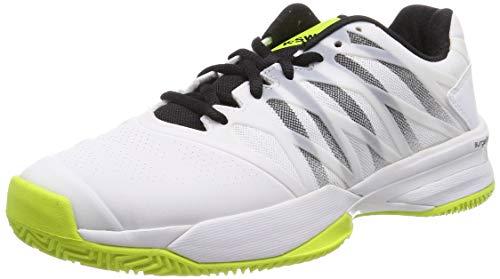 K-Swiss Ultrashot 2 HB, Zapatillas para Hombre, Blanco/Negro/Amarillo (Neon), 47 EU