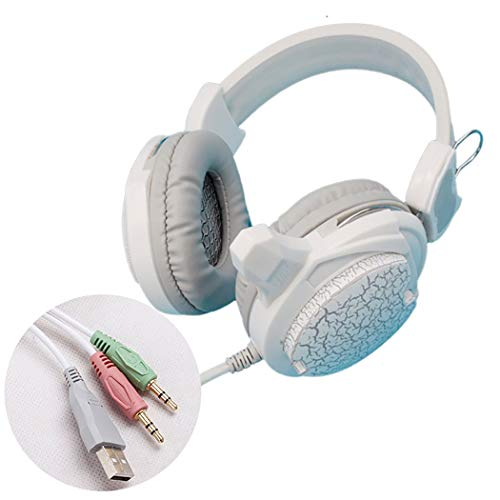 Mzq-yq Internet Cafe Game Esports Auricular, Instrumento Musical electrónico PC Auricular, Alta resolución, Efecto subwoofer, (Color : White G800)