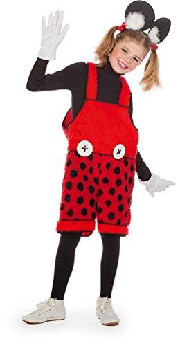 Karneval-Klamotten Mickey Mouse Kostüm Kinder Latzhose Mickey Maus-Kostüm Latzhose Maus Karneval Micky Kinderkostüm Größe 116 (Kostüm Kinder Für Maus Mickey)