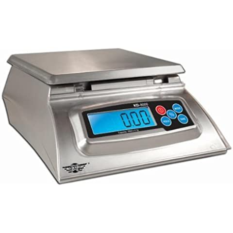 Kitchen Scale – Baker' s Math Kitchen Scale – KD8000 Scale by My Weight, Silver by My Weigh –