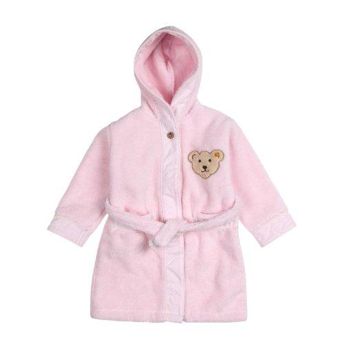 Steiff Unisex - Baby Bademantel, Rosa (2560 ), 86 (Herstellergröße: 86/92)