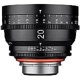 ROKINON 20–20mm f/1.9–1.9Standard-prime fixe Prime 20mm T1.9Professional Cine objectif grand angle pour Sony E Mount (FE) objectif interchangeable, appareils photo, noir (Xn20-nex)