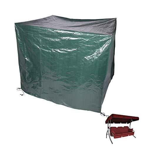 HOLISTAR Schutzhaube Hollywoodschaukel Gartenschaukel Schutzhülle Gartenmöbel PE Abdeckplane mit Klettverschluss 215x150x150cm Grün