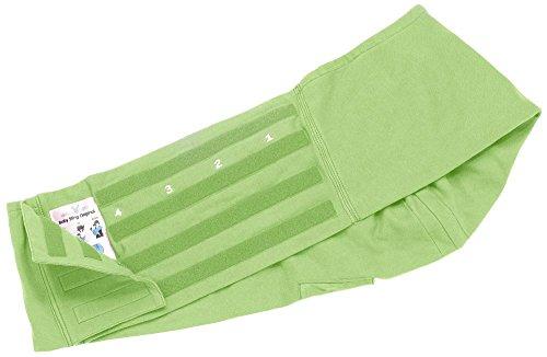 Wallaboo Tragetuch Connection, 100% Baumwolle, Passt sich der Form Ihres Baby genau an, Ergonomische Babytragetuch, Frabe: Grün - 4
