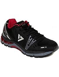 Seven Poseidon Black High Risk Red Running Shoes(Black)