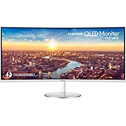 Samsung C34J791WTU Ecran Ordinateur VA Incurvé de 34'' ultra large en Résolution UWQHD (3440 x 1440, Connectique Thunderbolt 3, 4ms, compatible Apple Mac Book, Imac