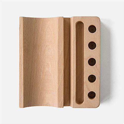 Stifthalter aus Holz, Schreibtisch-Accessoires, Stifthalter für Bürobedarf, Namenskarten-Halter aus glattem Holz, stabil -