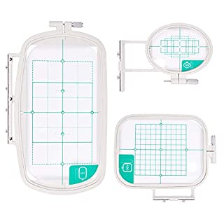 PandaHall Elite 3 pcs Plastic Embroidery Frame, Household Cross Stitch Sewing Tool, Platinum, 97~168x147~293mm, 3 Sizes