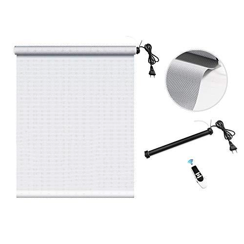 zemismart WiFi Smart-Rollladen-Rohrmotor mit Sonnenschutzvorhang, Alexa Voice, Timer-Steuerung, Fernbedienung, 5% Lichtdurchlässigkeit, stark beschattet, feuerhemmend (60x178cm, Grau)