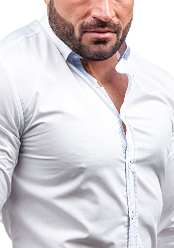 BY MIRZAD - Chemise casual - à manches longues – BY MIRZAD 5777 - Homme Blanc