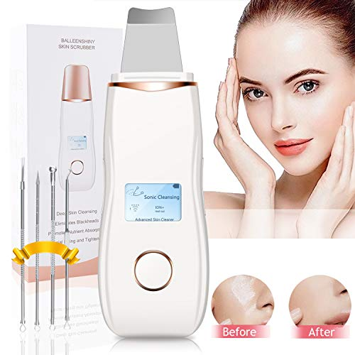 Ultraschall Haut Scrubber,Olictar 5 in 1 USB Ultraschallpeelinggerät Peeling Gesicht Mitesserentferner Akne Entferner Hautreiniger für Gesichtsreinigung - Gold