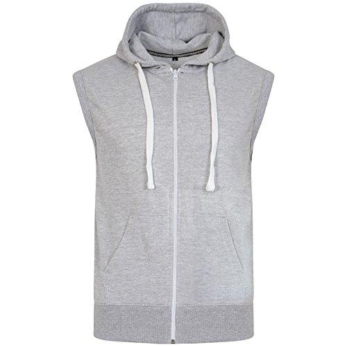mens-sleeveless-gym-sweatshirt-premium-gilet-fleece-hoodie-top-summer-silver-grey-2xl-hoodie