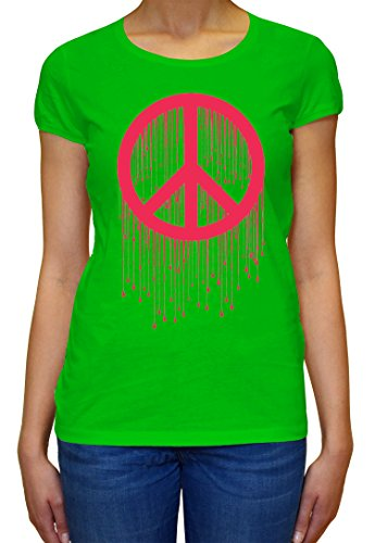 Peace Painted Logo Pink Graphic Design Women's T-shirt XX-Large (Womens T-shirt Painted Logo)