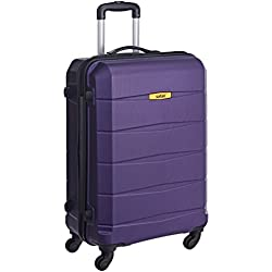 Safari Polycarbonate 65 cms Purple Hardsided Suitcase (REGLOSS ANTISCRATCH 4W 65 PURPLE)