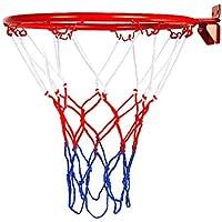 Delisouls - Canasta de Baloncesto para Colgar con Anillo, Calidad y Seguridad Probada, aro de Baloncesto, Red para Montar en la Pared, Plegable, para Interiores y Exteriores, para niños
