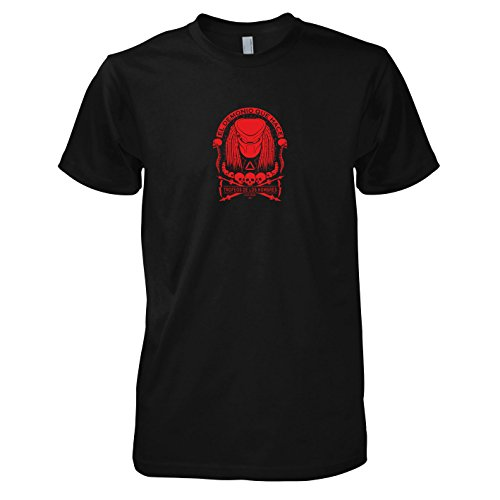 Kostüme Aliens Vs Predator (TEXLAB - Skull Collector - Herren T-Shirt, Größe L,)