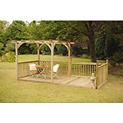 4.8 x 2.4m Deck Kit Including Pergola