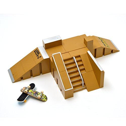 Apollo Fingerboard Rampen Set San Francisco inkl. 4 Komplett-Boards und Mini-Rampe für Skate-Tricks