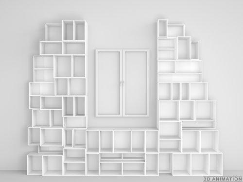 Design Regal - Skulpturale Wohnwand nach Maß