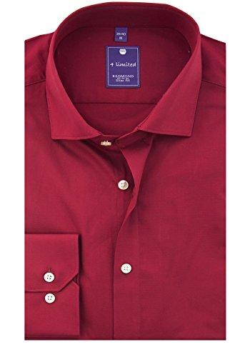 REDMOND 4 limited Uomini Camicia per ufficio 400130 Slim Fit Rosso scuro