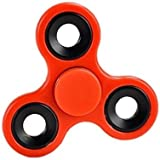 Fidget Hand Spinner - Stress Reducer, Stress Relief, Autism - RED WITH BLACK RINGS