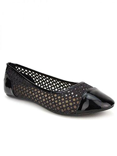 Cendriyon, Ballerine noire BELLICI Chaussures Femme Noir
