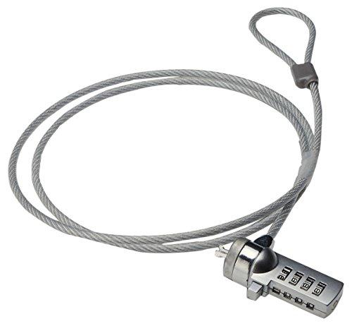 Ewent EW1241 1.5m Plata - Cable antirrobo (Plata, Cerradura con combinación, Acero, Zinc de Acero, 1,5 m)
