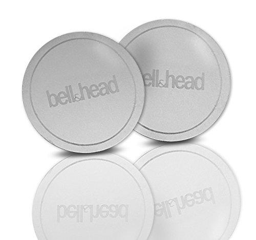 2er Set Metallplättchen RUND mit Klebefläche für KFZ Magnet-Handy-Halterung - Zusatz-Set oder Ersatz für Original Platten von bell & head oder anderen Anbietern (4 cm Durchmesser)