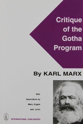 Gotha-programm (Critique of the Gotha Programme With App)