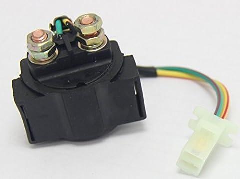Wisamic Anlasserrelais /Starterrelais / Magnetschalter SOLENOID für 4-Takt-Motor 50cc GY6 70cc 90cc 110 ccm etc