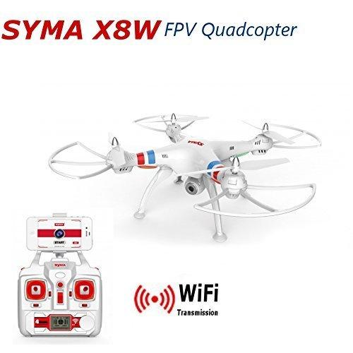 Outdoor Hubschrauber Rc Syma (WayIn Syma X8W WiFi Ufo mit Live-Übertragung Video 2.4G 4CH 6 Achse Venture mit Kamera Big RC Quadcopter FPV - Weiß Version)