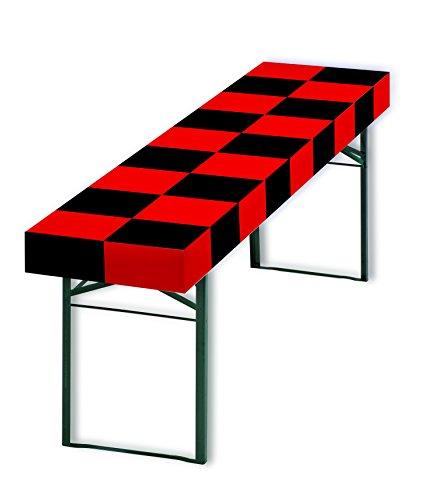 patide - die Papiertischdecke für Ihr ganz besonderes Event, Design: Schachbrett schwarz/rot