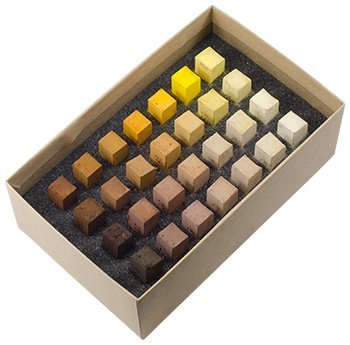 Blue Earth : Soft Pastel : 28 Stick Box Set : Yellow (Earth Blue)