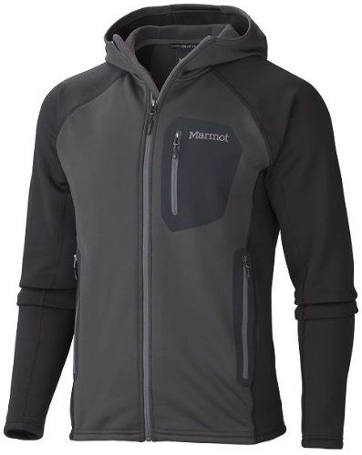Marmot Herren Kapuzenjacke Power Stretch Vars dark granite/black